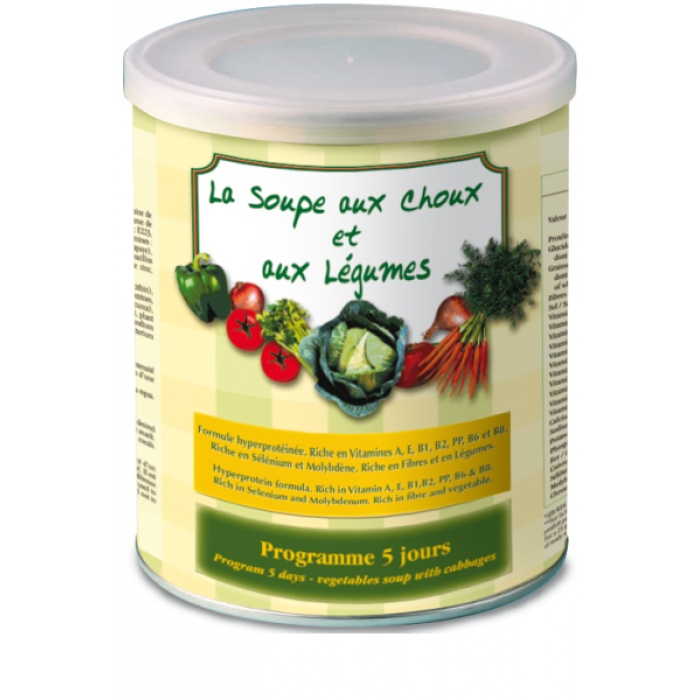 Soupe choux et légumes - substitut de repas | Toutelanutrition