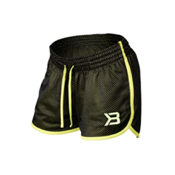 Short sport Race mesh noir jaune - Better Bodies