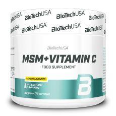 MSM + Vitamine C - Vitamines & Minéraux - Biotech USA | Toutelanutrition