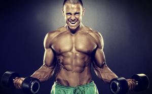 man-screaming-with-dumbbells