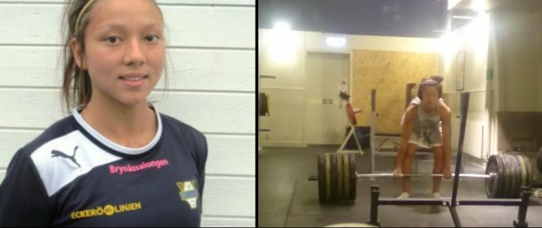 Elle a 16 ans et ridiculise la plupart des hommes en salle de sport