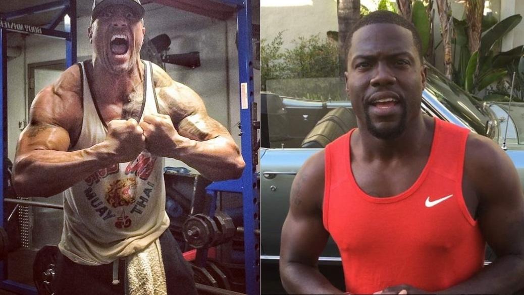 The Rock et Kevin Hart partagent leur passion pour la musculation