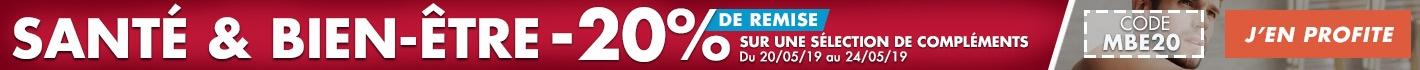 Santé & Bien-être : -20% de remise sur une sélection