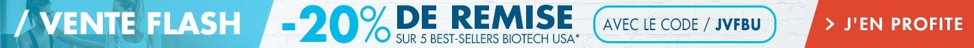 Vente Flash Biotech USA : -20% de remise sur 5 best-sellers