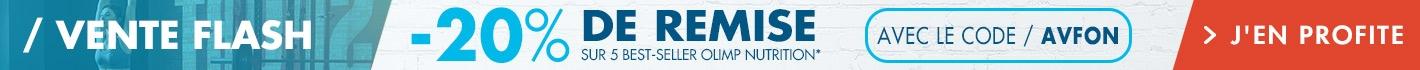 Vente Flash Olimp Nutrition : -20% de remise sur 5 best-sellers