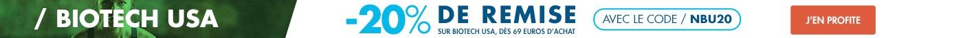 Biotech USA : -20% sur toute la gamme dès 69 euros de commande