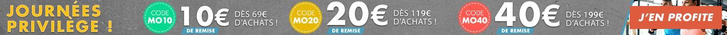 Journées Privilège : remise progressives jusqu'à 40€ !