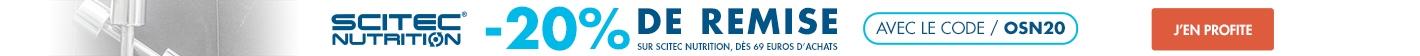 Scitec Nutrition : -20% sur la gamme dès 69 euros d'achats
