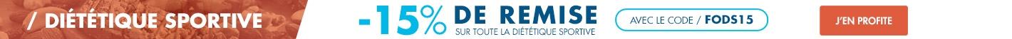 -15% sur toute la diététique sportive !