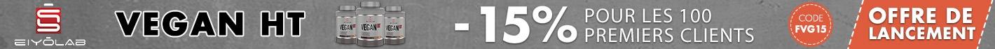 Offre de lancement Vegan HT : -15% pour les 100 premiers clients