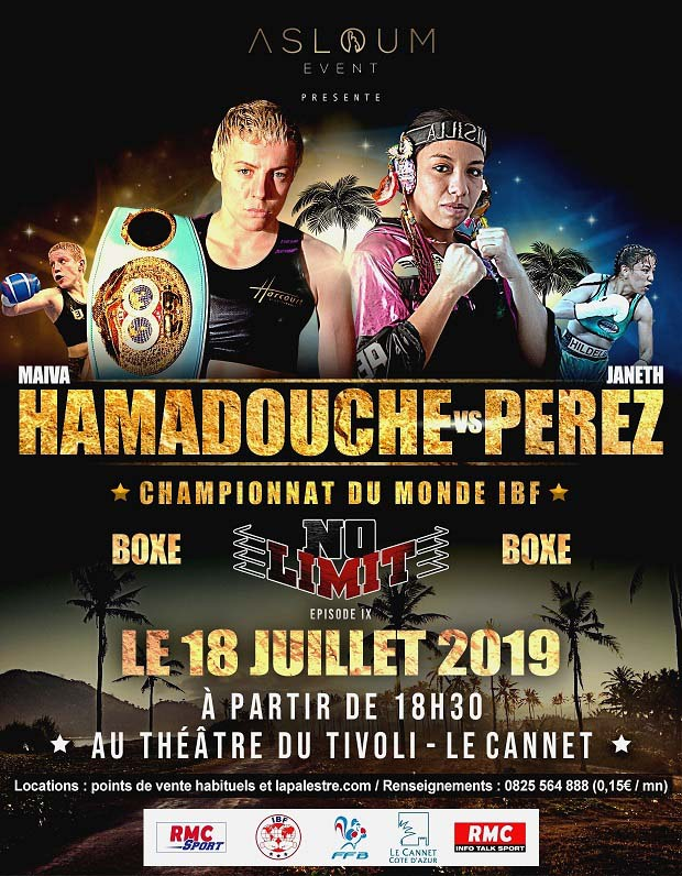 Championnat du monde de Boxe le 18 juillet au Cannet