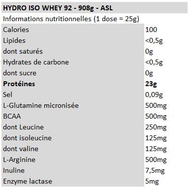 Hydro Iso Whey 92 - ASL