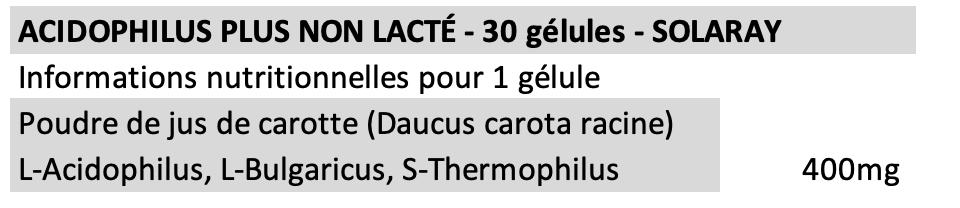 Acidophilus plus - Solaray