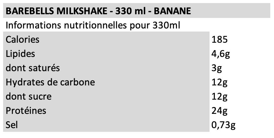 Barebells Milkshake Banane