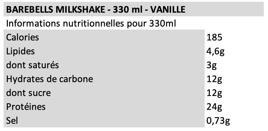 Barebells Milkshake Vanille