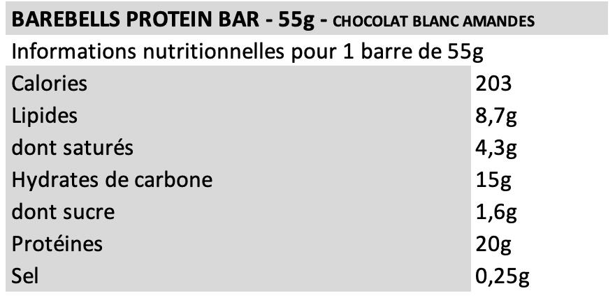 Barebell White Chocolate Almonds