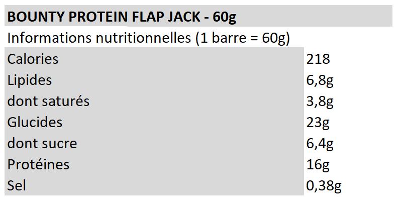 Bounty Protein Flap Jack