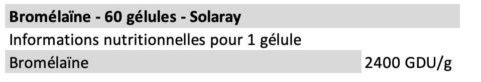 Bromélaïne - Solaray