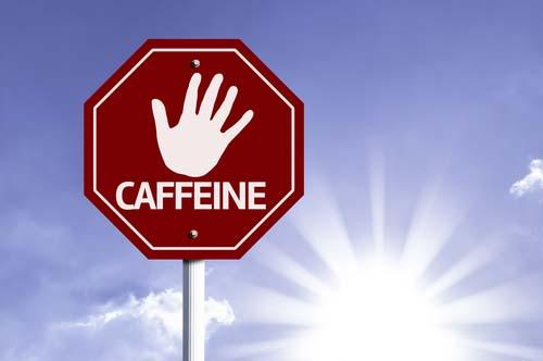 ne forcez pas trop sur la caféine