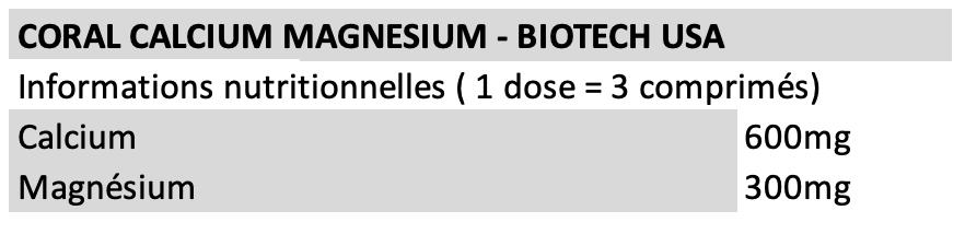 Coral Calcium Magnesium - Biotech USA