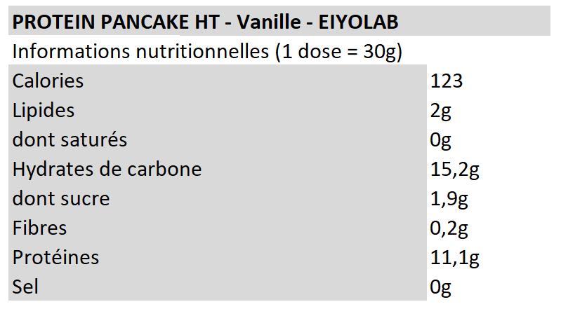 Pancake HT - Vanille - Eiyolab
