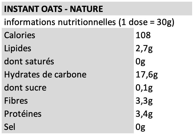 Instant oats - Fit&Healthy - Neutre
