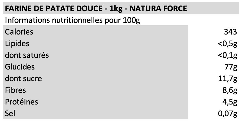 Farine de patate douce - Natura Force