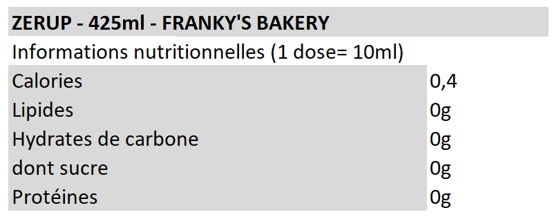 Frankys ZerUp - Franky's Bakery