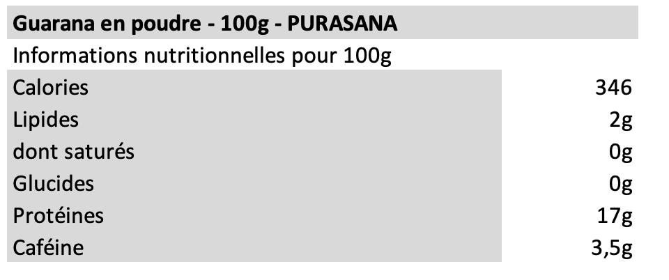 Guarana en poudre - Purasana