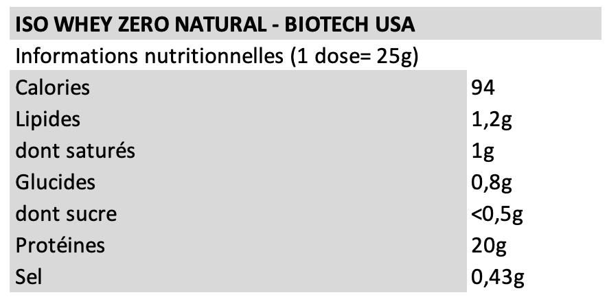 Iso Whey Zero Natural - Biotech USA