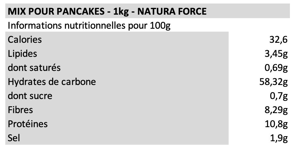 Mix pour pancakes - Natura Force
