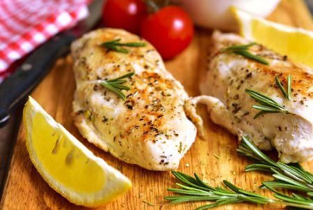 Recette protéinées de poulet au citron et épices