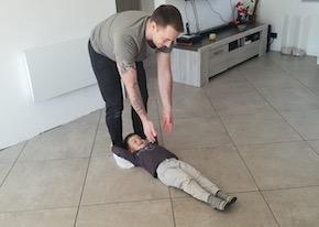Relevé de jambes poussé 2