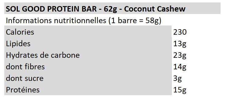 Sol good bar - coconut cashew