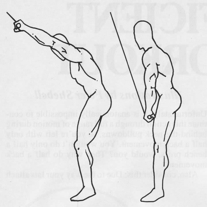Tirage bras tendus pour muscler le dos