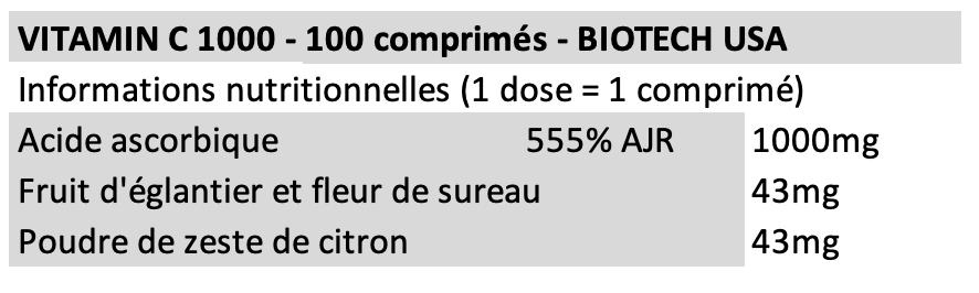 Vitamin C 1000 - Biotech USA