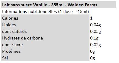 Walden Farms - Lait Vanille