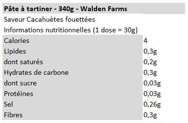 Walden farms - beurre de cacahuètes fouetté