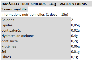 Walden Farms - Confiture myrtille