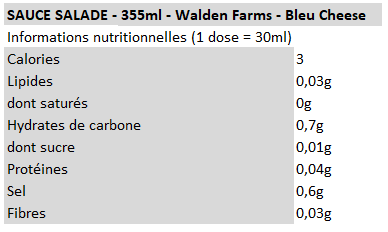Walden farms - vinaigrette bleu cheese