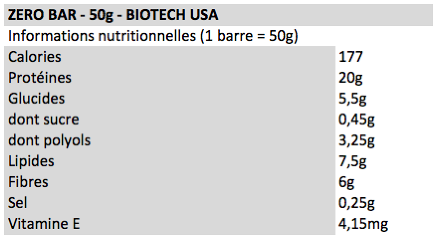 Biotech USA - Zero Bar