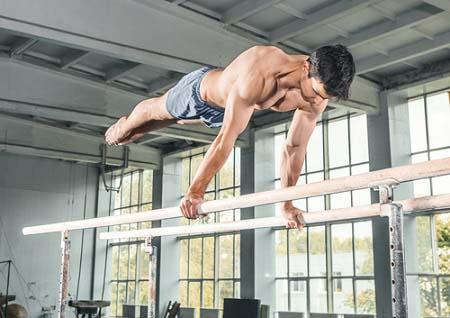 Les barres parallèles en gymnastique