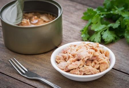 Protéines et boite de thon