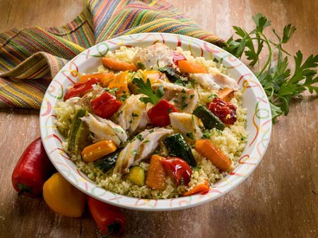Poulet au couscous