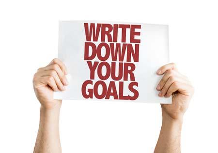 Ecrivez vos objectifs
