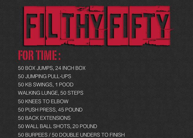 Filthy 50 WOD