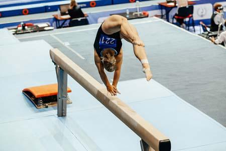La poutre en gymnastique