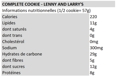 Complete cookies - Lenny and Larry's