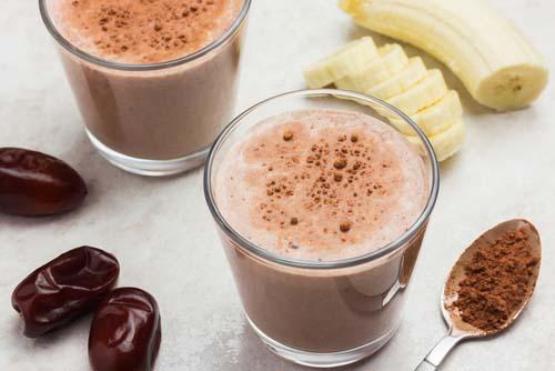 Milkshake protéiné à la banane et beurre d'arachides