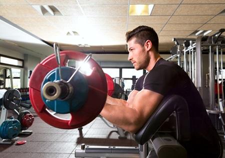 Curl au pupitre biceps